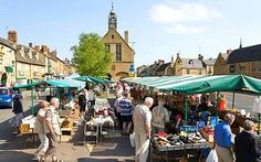 Market each Tuesday. Excellent food shops stocking Cotswold produce.