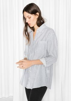 & Other Stories image 2 of Oversized Shirt in Striped