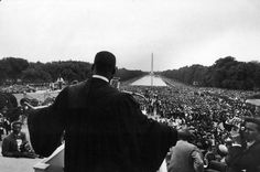1957   Reverend Martin Luther King Jr. speaks at the landmark Prayer Pilgrimage for Freedom in Washington, DC, one of the earliest mass rallies of the burgeoning Civil Rights Movement. Paul Schutzer took this photograph in 1957, but it did not appear in LIFE until the April 12, 1968, issue — one week after Dr. King was assassinated.