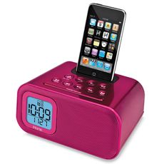 iHome® Dual Alarm Clock for iPod® and iPhone® - Pink - Bed Bath & Beyond