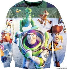 Alisister New Fashion Women Men Harajuku Sweatshirt Pullovers Toy Story Cartoon Hoodies Printed Autumn Funny Clothes Funny Outfits, Disney Outfits, Cute Outfits, Funny Clothes, Disney Clothes, Casual Clothes, Disney Sweatshirts, Disney Sweaters, Hoodies
