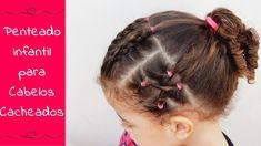 Penteado diferente para crianças com cabelos cacheados