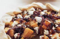 Caramelised onion and pumpkin pie