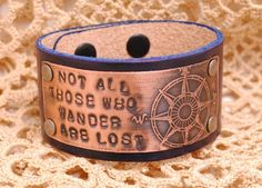 Bracelet Etched Copper Compass Hand stamped Not by QueSarahSera, $35.00