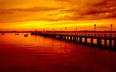 cool Pier Sunset Sky For PC