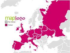European Countries I've Been To SP, F, D, L, B, NL, UK, UA, H, SK, S, FIN, LT, LV, EST, CZ, A, I, CH