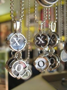 Type Writer Key Necklace -From Local Seattle Artisit - Teresa DeLeen