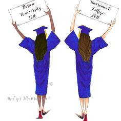 Graduate Customize sign by Melsys on Etsy Graduation Drawing, Graduation Clip Art, Graduation Images, Afrique Art, Best Friend Drawings, Paper Illustration, Illustrations, Jamel, Girly Drawings