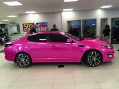 This flashy pink 2015 Kia Optima LX instantly caught my attention! I than imagined myself driving along the Californian coastline with all the windows rolled down and Midnight City by M83 blasting on the radio.