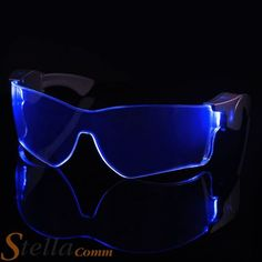 Cyber Vizor Visor LED Light Up Festival Glasses Rave Party in Clothes, Shoes & Accessories, Fancy Dress & Period Costume, Accessories | eBay