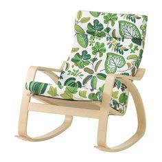 POÄNG Schommelstoel - Simmarp groen, berkenfineer - IKEA