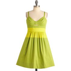 Quick Visit Dress in Green ($69) ❤ liked on Polyvore
