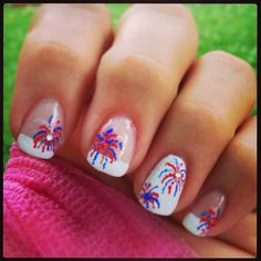 Memorial Day or 4th of July nails