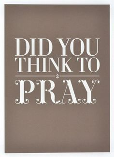Did you think to PRAY for your grandchildren today?...