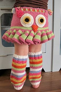 Owl Wool Longies with matching leg warmers!  If only I had a baby girl!