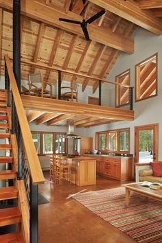 Goat Peak Cabin Cabin House Plans, Tiny House Cabin, Tiny House Design, Shed Homes, Cabin Homes, Log Homes, Plan Chalet, Log Home Interiors, A Frame House