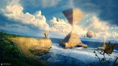 DeviantArt - Discover The Largest Online Art Gallery and Community - Page 7 Scenery Paintings, Fantasy Paintings, Fantasy Artwork, Fantasy Landscape, Landscape Art, Landscape Paintings, Fantasy Places, Sci Fi Fantasy, Design Spartan
