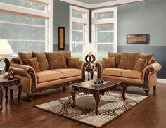 SM7615 Tatum Sofa Set Collection# sm7615 furniture of america# leopard print pillow