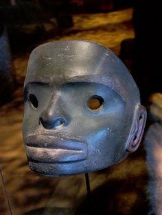 A rare Tlingit, Northwest Native stone mask.   #pacificNorthwestCoastNativeIndianArt