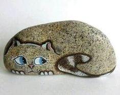 Pebble Painting, Pebble Art, Stone Painting, Diy Painting, Painted River Rocks, Painted Rocks Craft, Hand Painted Rocks, Painted Pebbles, Painted Stones