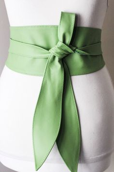 A personal favourite from my Etsy shop https://www.etsy.com/uk/listing/497239200/bright-green-leather-obi-belt-tulip-tie