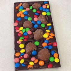 Dark Chocolate Mini M&Ms and Cookie Dough Balls :) #foodporn #heaven #melbornedessert #sydneydessert #melbournefood #sydneyfood #yum #delish #chocolate
