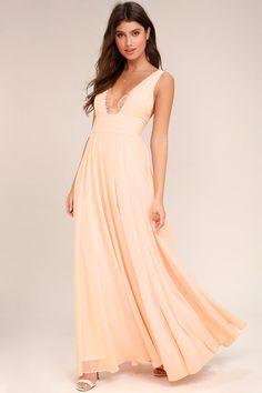 True Bliss Blush Pink Maxi Dress 2