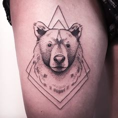 «GRIZZLY BEAR FROM LAST WEEK.  IF YOU WANT TO GET INKED, CONTACT ME VIA THE SHOP VADERS.DYE [ L I N K  I N  P R O F I L E ]  FOLLOW MY STUDIO @vadersdye »