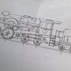 Nearly finished. #locomotive #train #steamengine #illustration #design #sketch #station #tracks #engine #history #nostalgic #tie #men #wedding #groomsmen #Etsy #EtsyUK #folksy #US