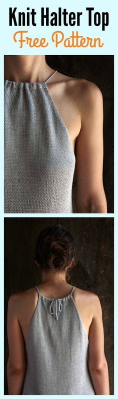 Knit Halter Top Free Pattern