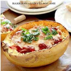 mmmmmmm i eat this already but never thought to serve it this way. such a good idea! plus spaghetti squeash is 0pts on weight watchers. turkey meatballs light sauce, and light cheeses and it's a very low point over all dinner