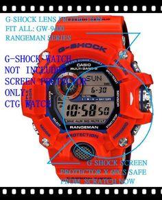 G-Shock Gw-9400Fbj Kobe Fire Rangeman Lens Protect X 6 Ok Gw9400 Gw9401 8f290e058e