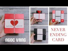 Diy Crafts Hacks, Diy Crafts For Gifts, Diy Toys And Games, Diy Gifts Videos, Never Ending Card, Exploding Gift Box, Puzzle Crafts, Diy Valentines Cards, Cute Birthday Cards
