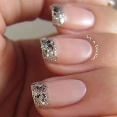 I am showcasing simple pink wedding nail art designs & ideas of Silver and white beads and rhinestones can be put on the nails after the base coat; it will give a very elegant touch to your nails on your big day. Love Nails, How To Do Nails, Pretty Nails, Fun Nails, Gorgeous Nails, Style Nails, Fabulous Nails, Pretty Eyes, Bridal Nails