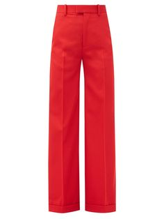 Red Wide Leg Pants, Red Trousers, Trousers Women, Wide Legs, Red Pantsuit, Spring Summer Fashion, Autumn Fashion, Bottega Veneta, Clothing Items