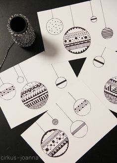 CIRKUS: DIY - Christmas cards by drawing