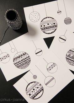 CIRKUS: DIY - Christmas cards by drawing