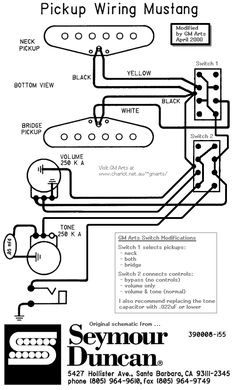 [QNCB_7524]  400+ Best Guitar Wiring Diagrams images in 2020 | guitar, guitar pickups,  guitar diy | Fender Mustang Wiring Schematic |  | Pinterest
