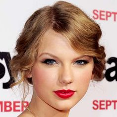 Taylor Swift's red lip- Cover Girl lip perfection in Hot Passion