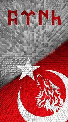 TÜRK Galaxy Wallpaper, Tattoo Designs, Wolf, Flag, History, Drawing, Holiday Decor, Ottoman, Posters