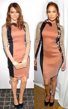 Come on Emma...this look is ALL JLo. Does your stylist know you at all??