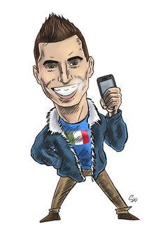 Matteo Piano caricature (photo: Lukasz Stanek) #volleyball #caricature #art