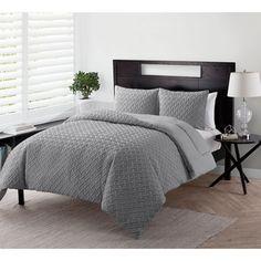 VCNY Nina Embossed Reversible Down Alternative Comforter Set - 19516654 - Overstock - Great Deals on VCNY Comforter Sets - Mobile