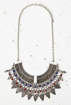 Beaded Filigree Statement Necklace | Forever 21 - 1000179139