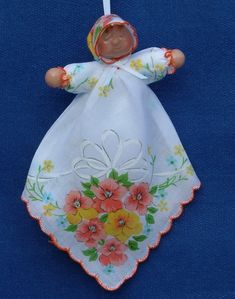 """crafts made from handkerchiefs 