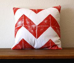 Love this - Chevron plus Subway tile shadow Pillow. Would like different colour - maybe canary yellow or aqua