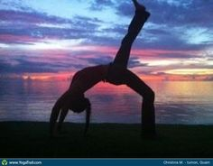 #Yoga Poses Around the World: Full Wheel Pose taken in tumon, Guam by Christina Martini