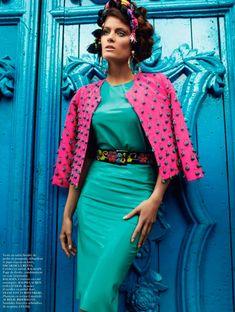 Isabeli Fontana & Aymeline Valade by Mario Testino for Vogue Paris