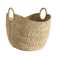 Montage Market Basket   Item: AB139  $35.00  Hand woven of naturally strong water hyacinth with rigid sides, so it won't collapse when you fill it with magazines, laundry or kindling.    Provence Market Basket features:  Also make a roomy picnic basket  Sturdy wrapped handles for easy carrying  Adds great natural texture beside a reading chair or hearth