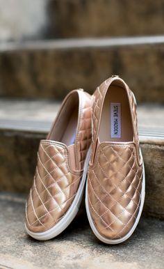 92077b529a8 Steve Madden - Shoe - Steve Madden Ecentrcq Sneaker - Rose Gold Steve  Madden Slip On